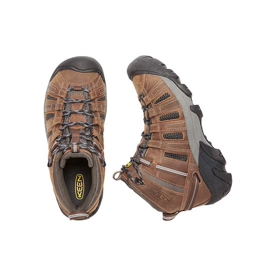 KEEN Men cascade brown/raven VOYAGEUR MID Outlet Store