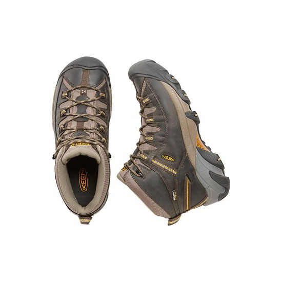 KEEN Men black olive/yellow TARGHEE II MID WIDE Outlet Store