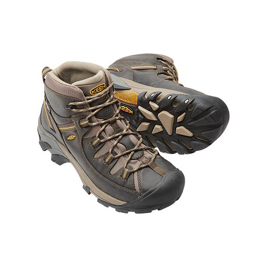 KEEN Men TARGHEE II MID WIDE black olive/yellow On Sale