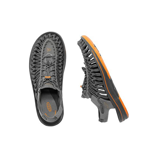 Men KEEN UNEEK FLAT CORD gargoyle/burnt orange Outlet Online