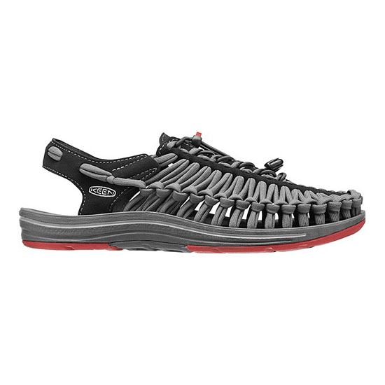 Men KEEN UNEEK FLAT CORD black/bossa nova Outlet Online