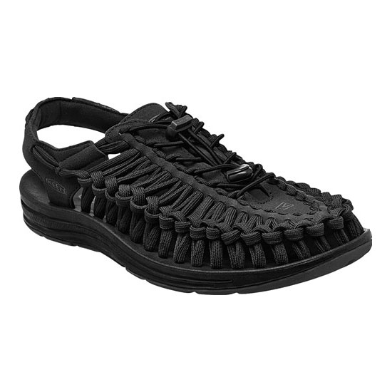 Men KEEN UNEEK FLAT CORD black/black Outlet Online