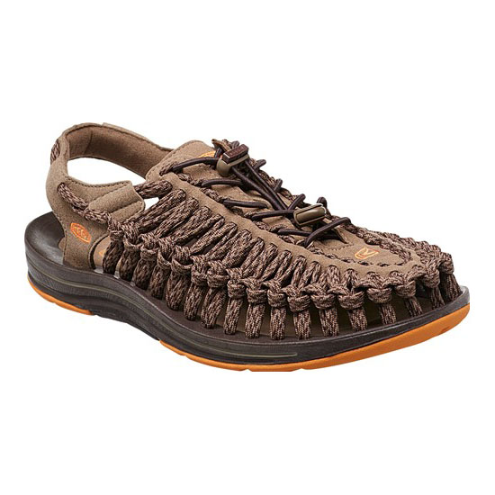 Men KEEN UNEEK FLAT CORD shitake/coffee bean Outlet Online