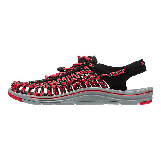 Cheap KEEN UNEEK ROUND CORD Men black/racing red Online