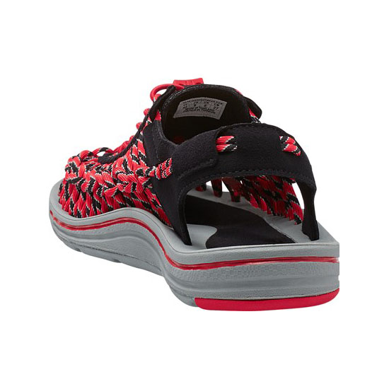 Men KEEN UNEEK ROUND CORD black/racing red Outlet Online