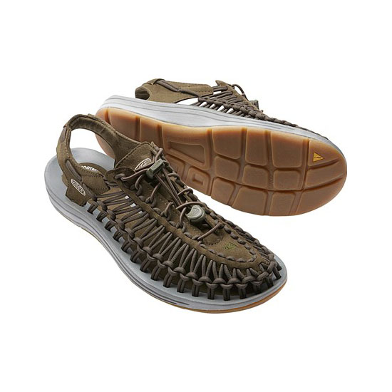 Men KEEN UNEEK ROUND CORD LTD dark olive/neutral gray Outlet Online