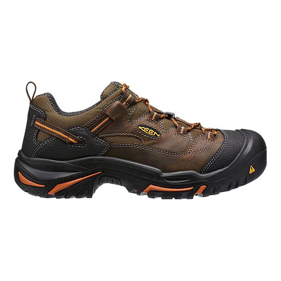 KEEN Men cascade brown/orange ochre BRADDOCK LOW (SOFT TOE) Outlet Store