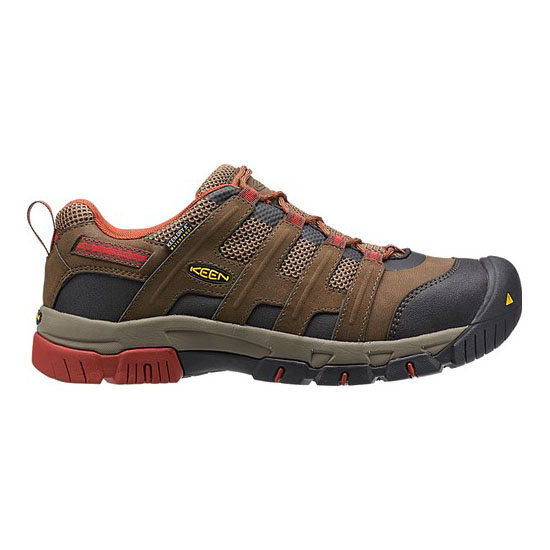 Men KEEN OMAHA WP cascade brown/burnt henna Outlet Online