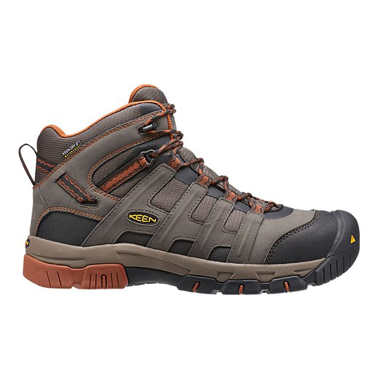 KEEN Men black olive/gingerbread OMAHA MID WP Outlet Store