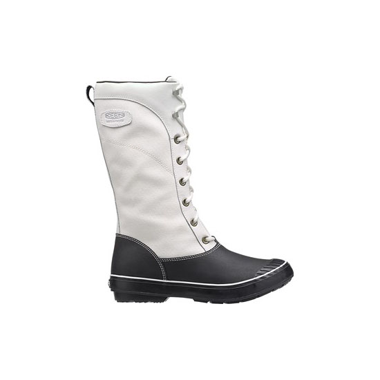 Women KEEN ELSA TALL CANVAS star white/black Outlet Online