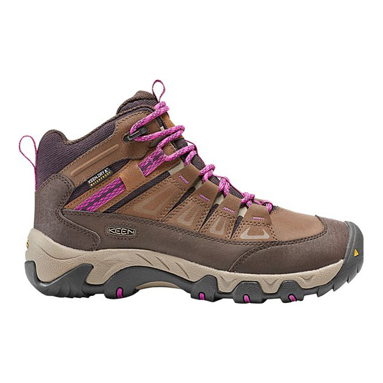 Women KEEN OAKRIDGE POLAR WATERPROOF BOOT dark earth/plum Outlet Online