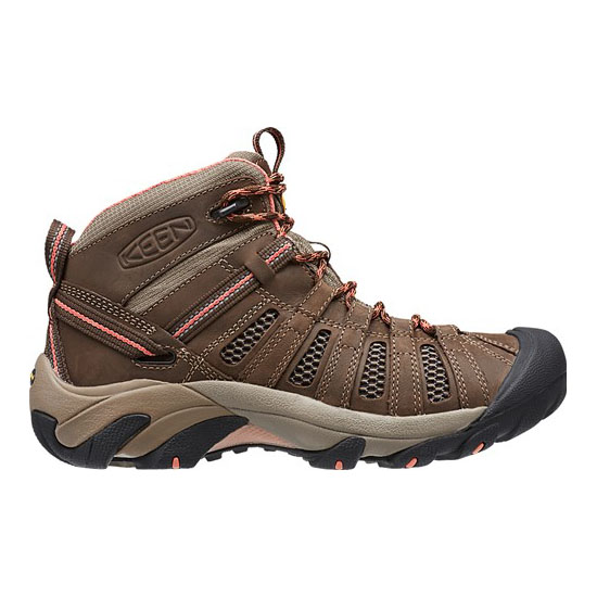 KEEN Women cascade brown/fusion coral VOYAGEUR MID Outlet Store