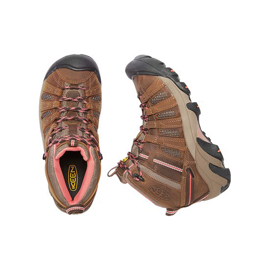 KEEN Women VOYAGEUR MID cascade brown/fusion coral On Sale