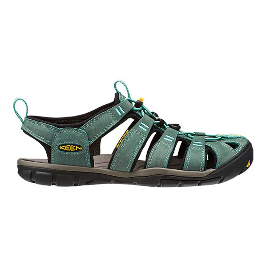 KEEN Women mineral blue/yellow CLEARWATER LEATHER CNX Outlet Store