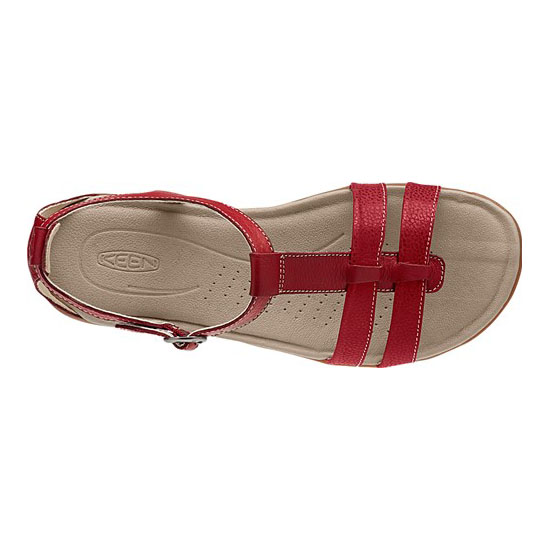 KEEN Women ROSE CITY T-STRAP red dahlia On Sale