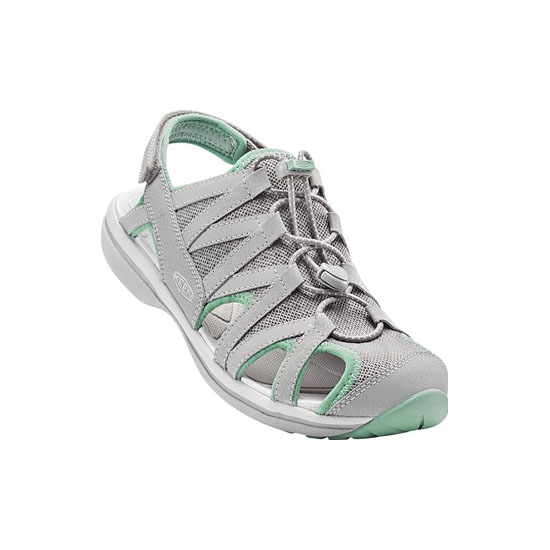 KEEN Women neutral gray/malachite SAGE SANDAL Outlet Store