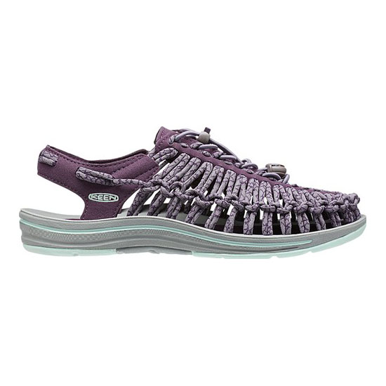 Women KEEN UNEEK ROUND CORD plum/shark Outlet Online