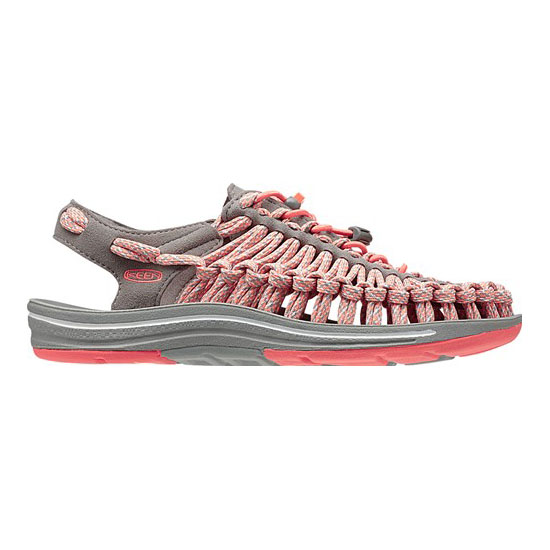 Women KEEN UNEEK FLAT CORD fusion coral/camo Outlet Online