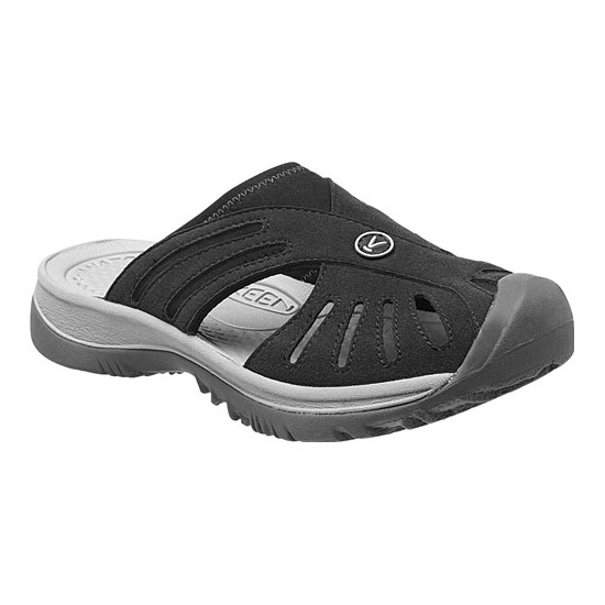 KEEN Women ROSE SLIDE black/neutral gray On Sale