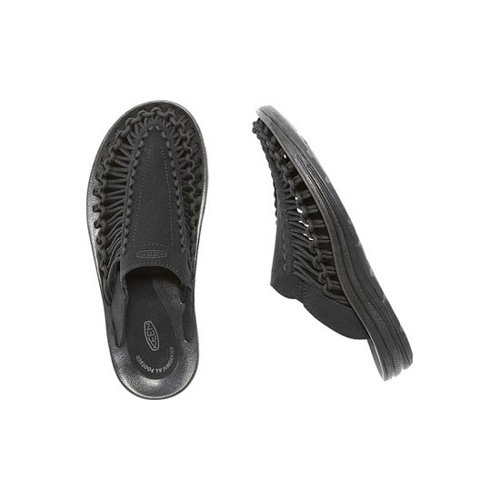 Women KEEN UNEEK SLIDE black/black Outlet Online