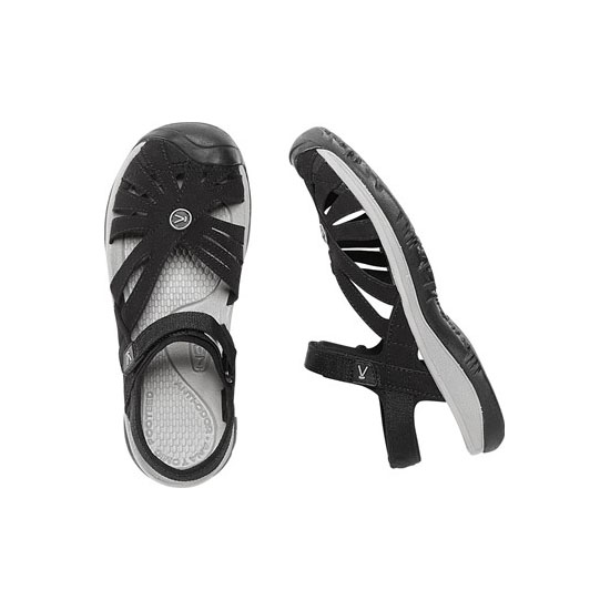 KEEN Women black/neutral gray ROSE SANDAL Outlet Store