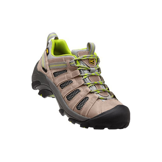 KEEN Women VOYAGEUR neutral gray/lime green On Sale